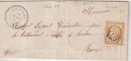 "FRANCE : GC 4071 . "" VALDERIES  "" . (77) . N° 21 . 1865 . DATEE DE LESCURE . - 1849-1876: Klassieke Periode"