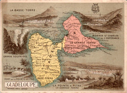 Chromo Département Territoire Français D'Outre-Mer La Guadeloupe La Grande-Terre Basse-Terre La Pointe-à-Pitre Deshages - Altri