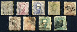 España Nº 116, 118, 121/22, 124/6. Año 1872 - Usados