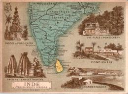 Chromo Pays En Asie Du Sud Inde Asiatique Pondichéry Chandernagor Hindoustan Madras Aurengabad Bombay Karikal Ceylan B.E - Altri