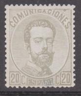 1872edifil 123 Amadeo I 20c. Nuevo  Cat. 198 Euros - Nuevos