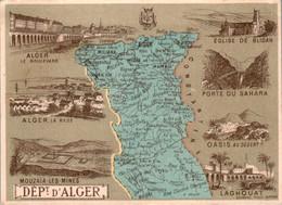 Chromo Département D'Alger Algérie Blidah Laghouat Aumale Médéa Miliana Madjez Boghar Khenchela Mouzaïa-Les-Mines B.Etat - Altri