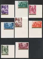 Rwanda 1967 Caritas Paintings Issue In IMPERF. CORNER MARGIN SINGLES MNH **, Perfect Quality, COB 205-212 - 1962-69: Ungebraucht