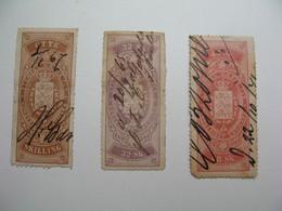 Fiscaux Lot  Stamp Duty  Steuermarken    Sellos Ficales  Danemark   à Voir - Steuermarken