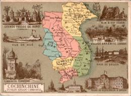 Chromo Cochinchine Française Ancienne Colonie Française Tonkin Annam Cambodge Asie Asiatique Siam Pnom-Pen Saïgon B.Etat - Altri