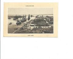 Chromo Egypte Egypt Canal De Suez Port-Saïd Magasins Du Louvres à LONS-le-SAUNIER 115 X 75 Mm TB 2 Scans - Altri