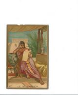 Chromo Gaufrée Embossed Paper Egypte Egypt Le Sablier Hourglass 105 X 70 Mm Bien RR 2 Scans - Altri