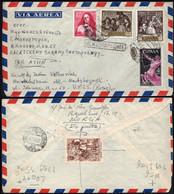 "Murcia - Edi O 1238,1241,1186.. - Mat ""Suc Carmen 11/8/59 - Murcia"" A Rusia - Al Dorso Viñeta ""Semana Santa 1943"" - 1951-60 Cartas"