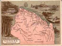 Chromo Guyane Française Région D'Outre-Mer Amérique Du Sud Cayenne Saint-Laurent Savannes Sinnamari Organabo En B.Etat - Altri