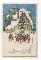 Bonne Année. Orchestre De Coccinelles, Petite Maison, Enfant, Trèfles, Violoncelle, Flûte, Tuba.  1949 - Nouvel An