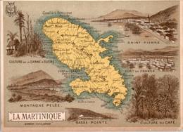 Chromo Département Français Île De La Martinique île Des Caraïbes Saint-Pierre Basse-Pointe Montagne Pelée La Trinité - Altri