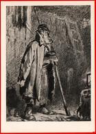 28291 Vasnetsov Night Watchman Man Sheepskin Gloves Security Guard In 1963 USSR Soviet Art Clean Card - Schilderijen