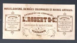 Fleurance ( 32 Gers)  Carte Commerciale Ancienne ROBERT Et Cie  Huiles Savons Denrées Coloniales.. (PPP30402) - Publicidad