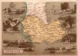 Chromo Sénégal Afrique Saint-Louis Cap-Vert Timisso Sangaran Djolof Trarzas Tagant Manding Baleya Saloum Cayor En L'Etat - Altri