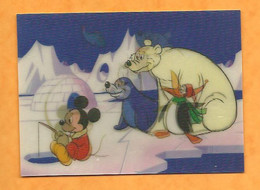 CPM  Visio  Mickey ,ours Blanc,phoque,pingoin  )  Pêche Sur La Banquise Igloo W .Disney Production - Other