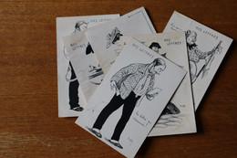 Lot De 6 Cartes Postales Anciennes  Nos Lettres - Poste & Facteurs