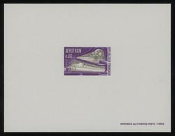 France 1970 Aerotrain 80c Violet And Bistre EPREUVE DE LUXE, Fault-free Quality, Yv. 1631, Cat. €70 - Prove Di Lusso