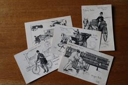 Lot De 5 Cartes Postales  Les Courriers - Poste & Facteurs