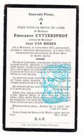 DP Emerance Uyttersprot ° Moorseel Moorsele Wevelgem 1855 † Beau Plateau Gérimont Neufchâteau 1927 X Jean Van Besien - Santini