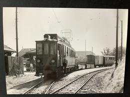 Photographie Originale De J.BAZIN: C.F De MOREZ à NYON. Gare De GENOLIER En Suisse En 1956 - Treni