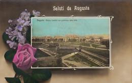 Sicilia - Siracusa - Augusta - Saluti Da Augusta - Piazza Castello - F. Piccolo - Nuova - Molto Bella Particolare - Altre Città