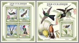 TOGO 2021 MNH Hummingbirds Kolibris Colibris M/S+S/S - OFFICIAL ISSUE - DHQ2129 - Hummingbirds
