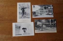 Lot De 4 Cartes Postales Anciennes Avion, Legagneux, Bolotoff, Van Den Born, Farman - Autres
