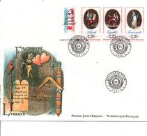 FDC 1989 TRYPTIQUE LIBERTE - 1980-1989