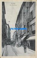 165374 ITALY PARMA STREET MAZZINI & TRAMWAY CIRCULATED TO BERGAMO POSTAL POSTCARD - Unclassified