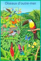 FRA-BK1-203 MDB MINT ¤ FRANKRIJK FRANCE 2003 SHEET ¤ BIRDS - BUTTERFLIES - OISEAUX D'OUTRE-MER - Hummingbirds