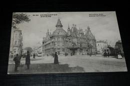 29657-                ANTWERPEN  ANVERS, BANQUE NATIONALE PHOTO STÉRÉO ORIGINALE - 1913 / TRAM - Antwerpen