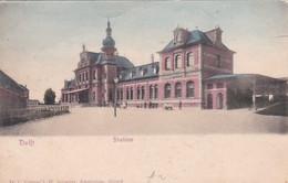 4822509Delft, Station. (poststempel 1903)(zie Hoeken En Randen) - Delft