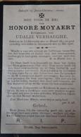 Doodsprentje HONORE MOYAERT, LICHTERVELDE 1875  ZWEVEZELE 1926 - Devotion Images