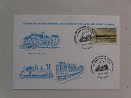CARTE POSTALE AVEC TIMBRE ET OBLITERATION  - CENTENAIRE1888-1988 De La Motte D'AVEILLANS Et Chemin De Fer De La Mure - La Mure