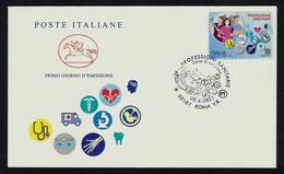 "2021 ITALIA ""PROFESSIONI SANITARIE"" BUSTA CAVALLINO SOVRASTAMPATA (ANN. ROMA) - FDC"