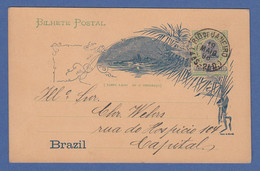 Brasilien Ganzsache Bilhete Postal 1896 Gel. In Rio De Janeiro Dt. Club Schubert - Non Classificati
