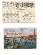 4093) Michetti 30su50 Coppia 1925 Venezia X Slovenia Accordo Portorose Tariffa - Storia Postale