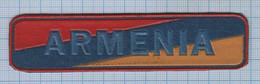 ARMENIA / Patch Abzeichen Parche Ecusson / Peacemakers. Peacekeeping Forces. Stripe On The Chest .1990s - Escudos En Tela