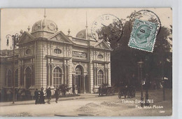 CARTE PHOTO ITALIE ITALIA PIEMONTE TORINO ESPOS 1911 PAVILLON DELLA MODA 3810 DOS DIVISE ECRIT - Ausstellungen