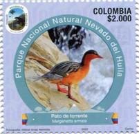 Lote 2020-10.3, Colombia, 2020, Sello, Stamp, Tercera Serie, Natural Park, III, Pato De Torrente, Duck, Bird - Colombia