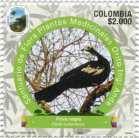 Lote 2020-23.1, Colombia, 2020, Sello, Stamp, Natural Park, VI Issue, Pava Negra, Bird, Ave - Colombia