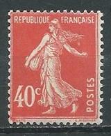France YT N°194 Semeuse Fond Plein Neuf/charnière * - 1906-38 Sower - Cameo