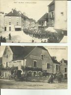 70 - Haute Saone - Lot De 2 Cartes -Lavoncourt - Café Du Centre - Animée - Gray - Rue Mavia - Retour De La Revue - - Vesoul