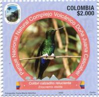 Lote 2020-10.4, Colombia, 2020, Sello, Stamp, Tercera Serie, Natural Park, III, Colibri Calzadito, Bird Hummingbird - Colombia