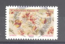 France Autoadhésif Oblitéré (Motifs De Fleurs N°10 - Tulipes) (cachet Rond) - 2010-.. Matasellados