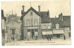 10 CPA Bar Ssur Seine Poste Et Caisse D'épargne Café Mercerie Anmation - Bar-sur-Seine
