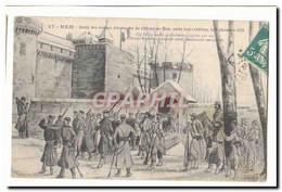 Ham CPA Sortie Des Troupes Allemandes Du Chateau De Ham Apre Sleure Reddition Le 9 Decembre 1870 - Ham
