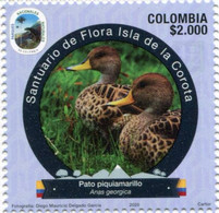 Lote 2020-10.1, Colombia, 2020, Sello, Stamp, Tercera Serie, Natural Park, III, Pato, Duck, Bird - Colombia
