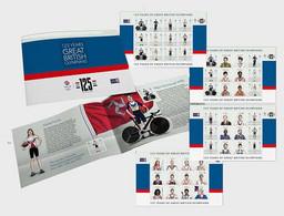 Iom 2021 Man Great British Olympians 125 Olympic Games Sport Cyclism PRESTIGE BOOKLET - Man (Ile De)