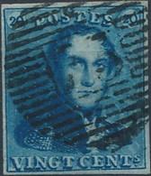 [O SUP] N° 2Aa, 20c Bleu-ardoise, TB Margé Et Regard Dégagé - Superbe - Cote: 150€ - 1849 Epaulettes
